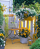 White-yellow balcony
