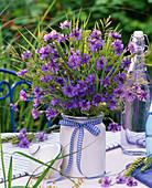 Bouquet of Centaurea, grasses, Triticum, Carum