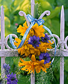 Small bouquet of Heliopsis and Nigella