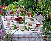 Raspberry table decoration