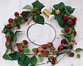 Raspberry wreath