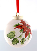 Christmas tree ball with poinsettia motif, cut out