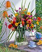 Bouquet of Dahlia, Helianthus, Aster