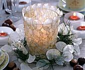 Lanterns with silver leaf
