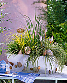 Decorate the grass box maritim style