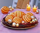 Decorate oranges with zester