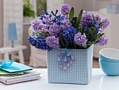 Hyacinthus (Hyacinth) and Pistacia (Pistachio Green) Bouquet