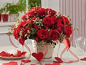 Bouquet of Rose, Chamelaucium, Pittosporum