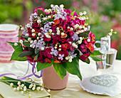 Bouquet with Erysimum, Syringa, Convallaria