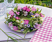 Flower wreath of meadow flowers