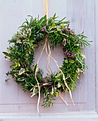 Wreath of herbs, Salvia, Rosemary, Origanum