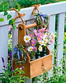 Small bouquets of Erigeron (fine jet), Leucanthemum