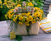 Wellness in yellow, mood-enhancing, caring for a good mood