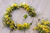 Tie wellness wreath