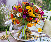 Bouquet made from Dianthus, Rudbeckia