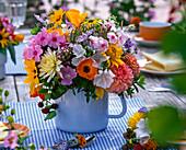 Bouquet of phlox, calendula (marigold), malva