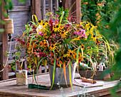Bouquet with Rudbeckia, Helenium, Solidago