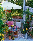 Cottage garden balcony