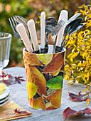 Cutlery with napkin 'Herbstlaub'