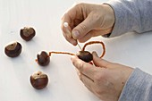 Chestnuts as a key chain