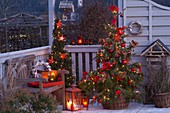 Decorate the balcony for Christmas