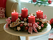 Advent wreath from Abies nordmanniana (Nordmann fir)