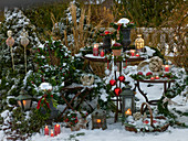 Christmas decoration in the garden