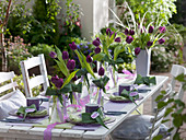 Tulips table decoration
