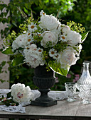 Bouquet of Paeonia lactiflora 'Festiva Maxima' (peony)