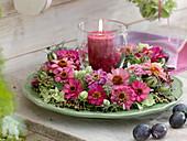 Hot pink-green summer wreath