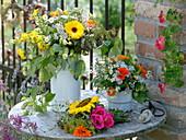 Medicinal plants and tea herbs bouquet