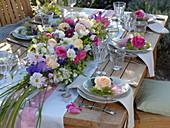 Lush flower table arrangement