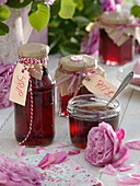 Rose jelly and syrup as a homemade gift