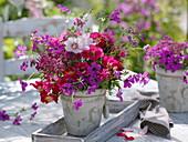 Red-pink summer bouquet