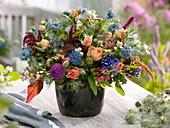 Bouquet, Limonium, Achillea, Nigella