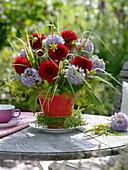 Bouquet with dahlia, allium, fennel