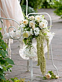 Bridal bouquet of pink (rose), Solanum jasminoides