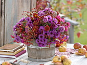 Pink-red autumn bouquet