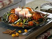 Scented pomander Advent wreath