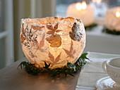 Homemade lantern made of sisal