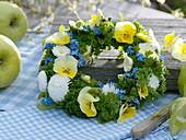 Herbs and edible flowers wreath