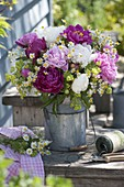 Bouquet from Paeonia, Matricaria chamomilla
