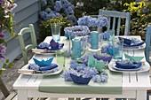 Maritime hydrangea table decoration