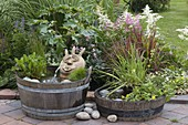 Hand-made water feature in wood-Zuber