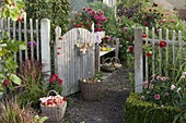 Open gate to the cottage garden
