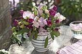 Bouquet of Lathyrus odoratus, sage