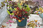 Bouquet of Rose, raspberry, malus