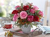 Rosa, Hypericum, Eucalyptus and Euphorbia spinosa