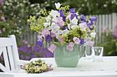 Bouquet with Campanula medium (Marian bellflowers), Campanula