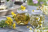 Nourishing herbal oil homemade